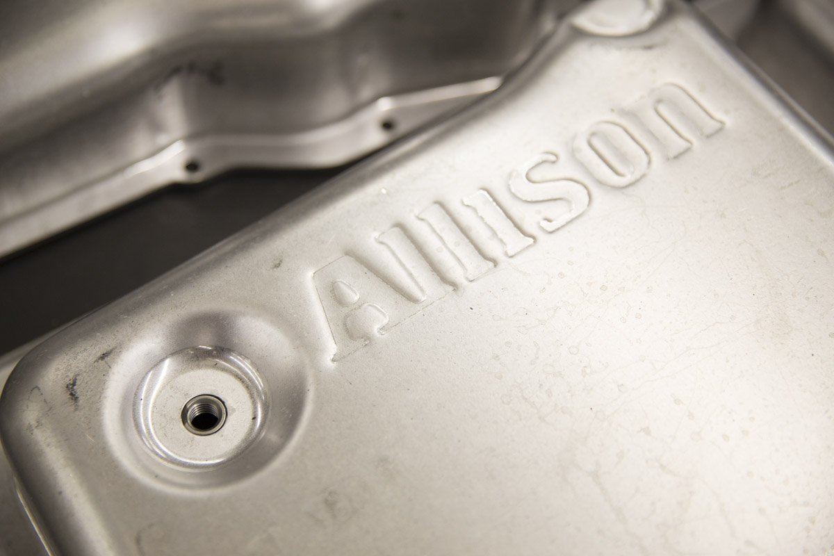 Oil embossed with Allison transmission