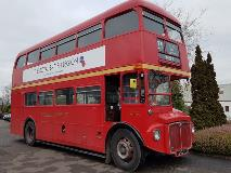 Double decker bus equipped with an Allison transmission.