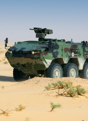 Defense vehicle equipped with an Allison transmission