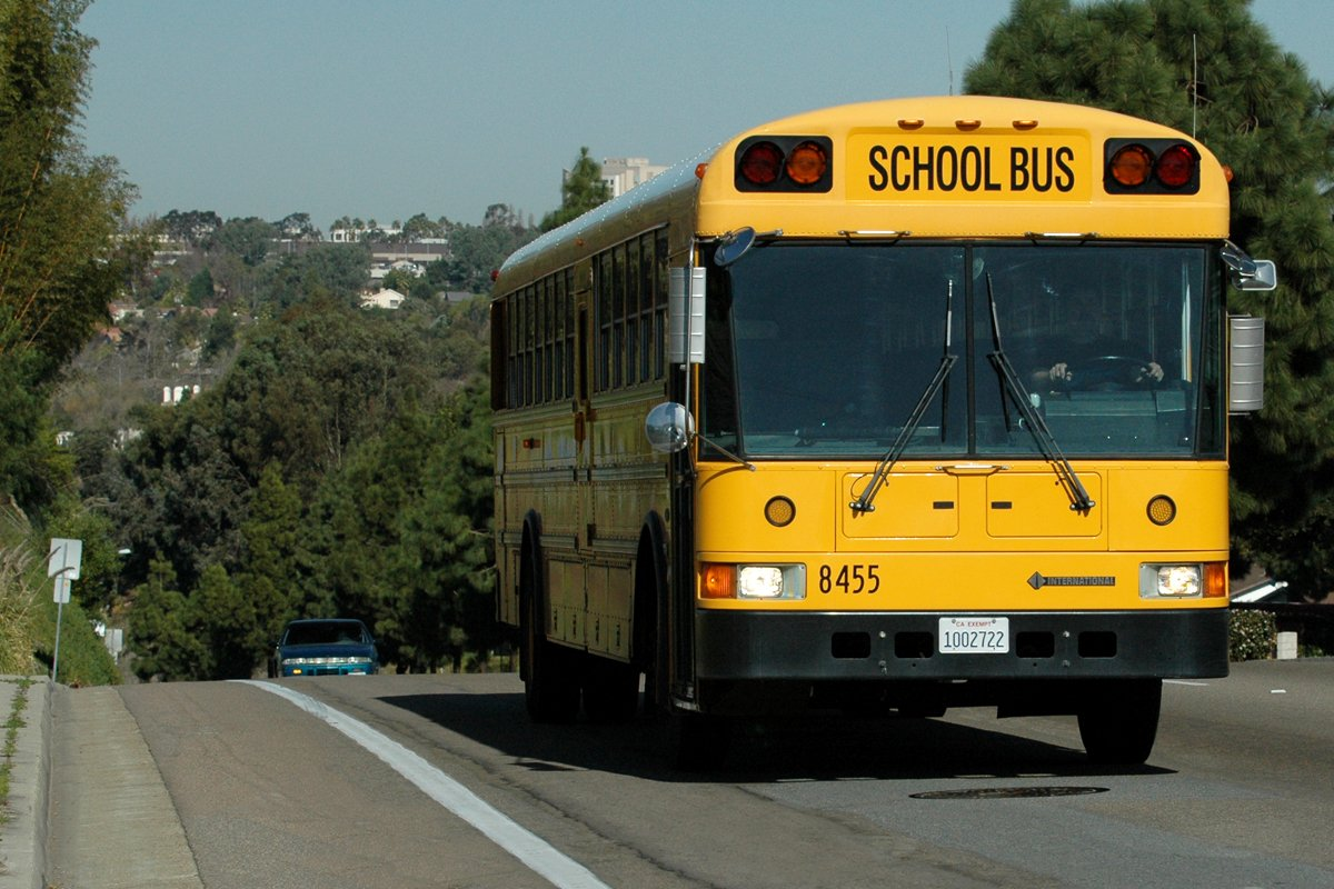 School bus equipped with an Allison transmission.
