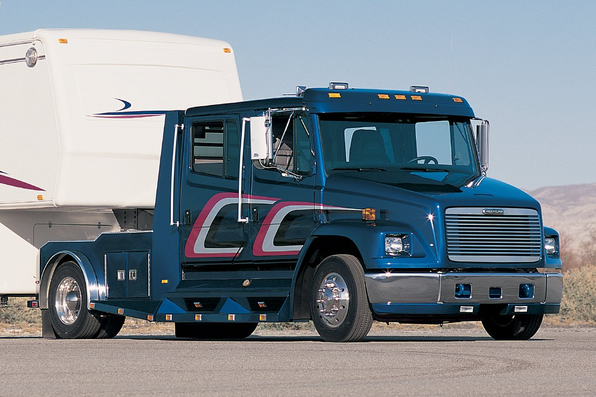 Freightliner truck equipped with an Allison transmission.