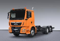 MAN TGM truck equipped with an Allison 3200 fully automatic transmission.