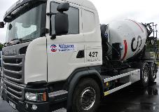 Björklunds Åkeri in Haninge recently added its first two Allison transmission-equipped concrete mixer trucks to its fleet.