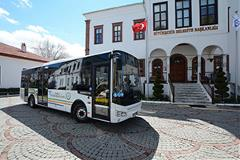 Otokar Doruk LE bus equipped with an Allison fully automatic transmission parked in Muğla, Turkey.