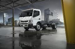 Fuso's new FE Series features a PSI-GM 6.0L V8 engine paired with a fully automatic Allison 1000 Series™ transmission along with FuelSense 2.0® as standard equipment.