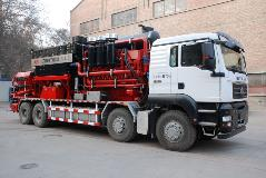 The Lanzhou Shengda 3000 fracturing truck is equipped with an Allison 9832 Oil Field Series™ transmission.