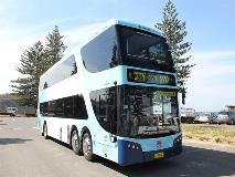 Forest Coach Lines' Bustech double-decker bus equipped with an Allison transmission.