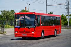 Bus on route in Russia.