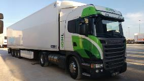 The liquefied natural gas (LNG) Scania truck with an Allison Automatic working in Spain.